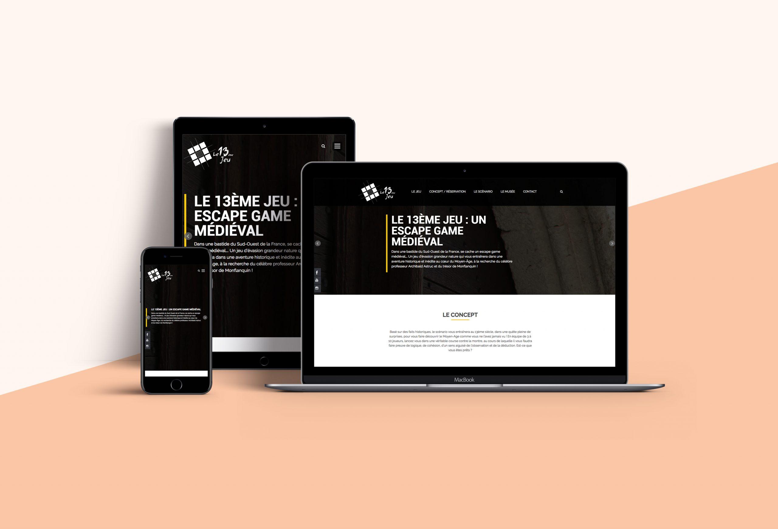 webdesign site Internet 13ème jeu