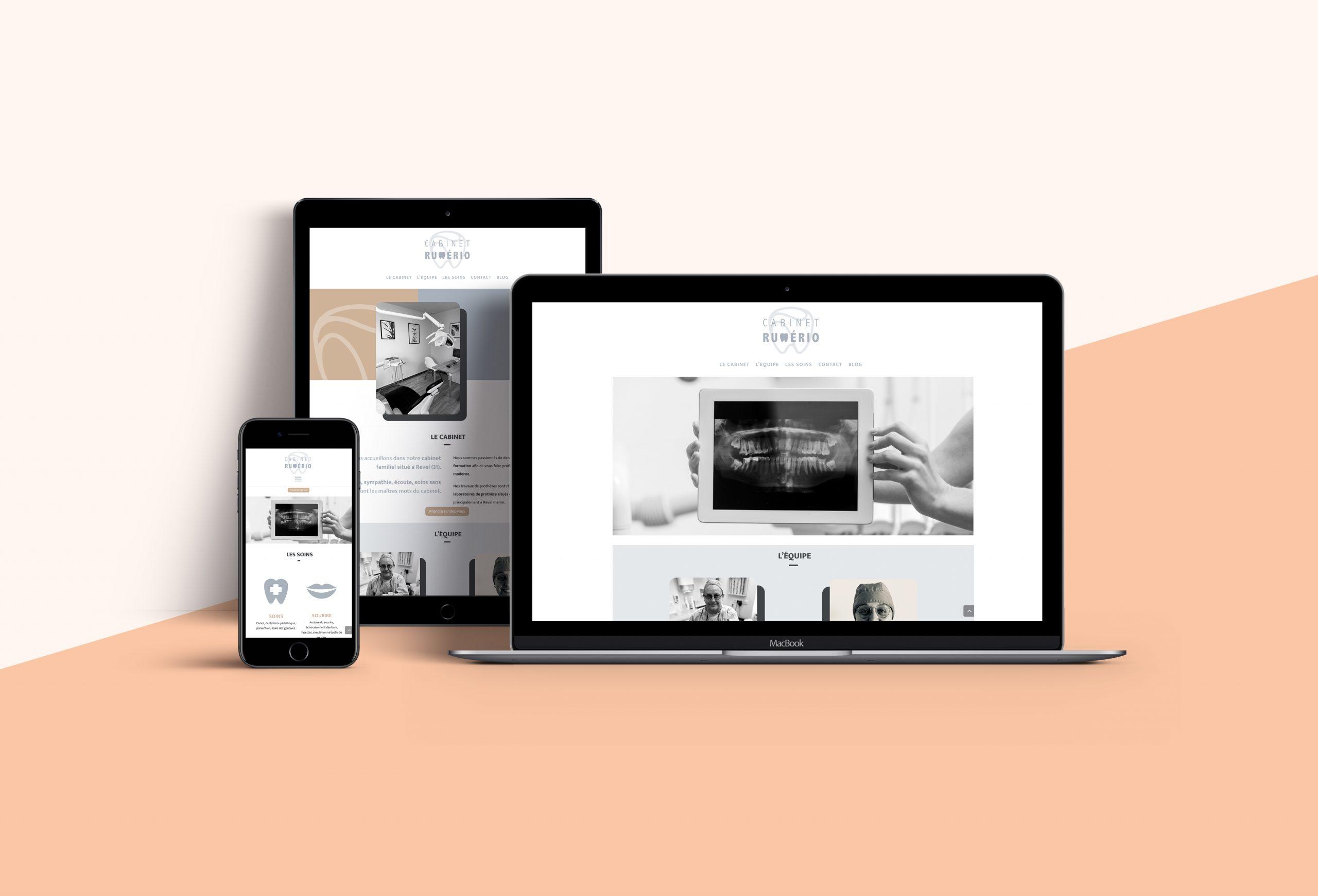 webdesign site Internet du cabinet Rumério